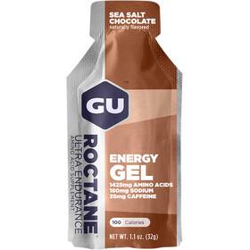 GU Energy Roctane Energy Gel Box 24 x 32g, Sea Salt Chocolate